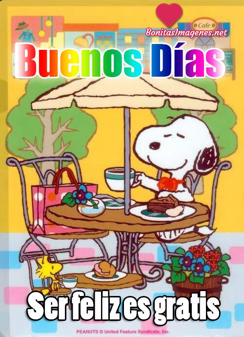 Buenos Días Snoopy