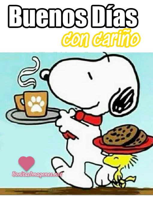 Buenos Días con cariño imágenes lindas Snoopy
