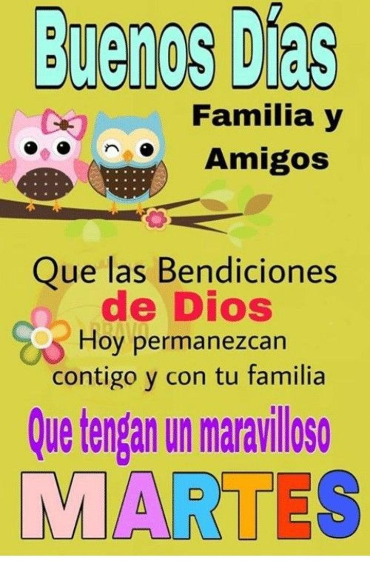 Feliz Martes amigos 209 - BonitasImagenes.net