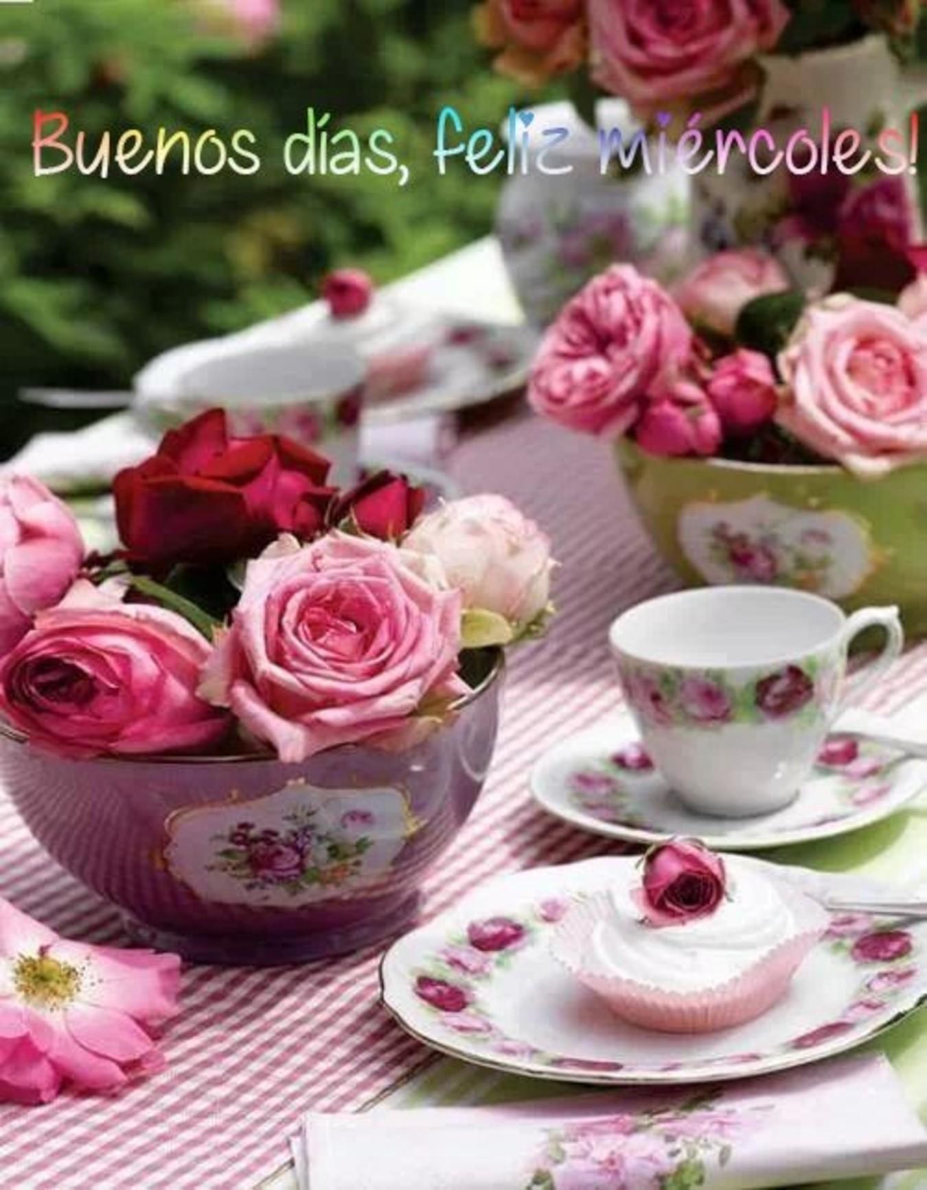 Feliz Miércoles con flores fotos 205