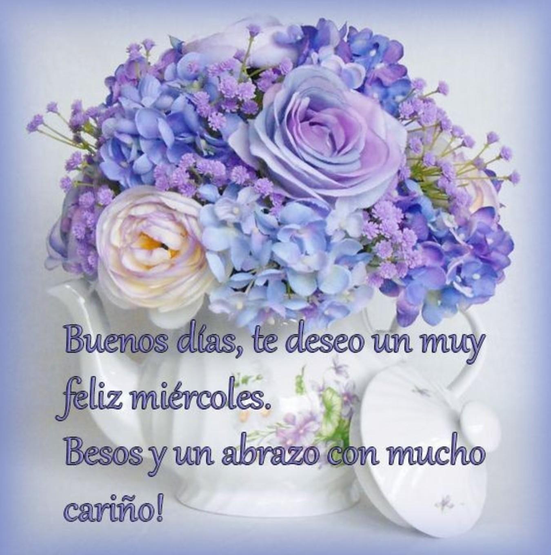 Feliz Miércoles con flores imágenes 144