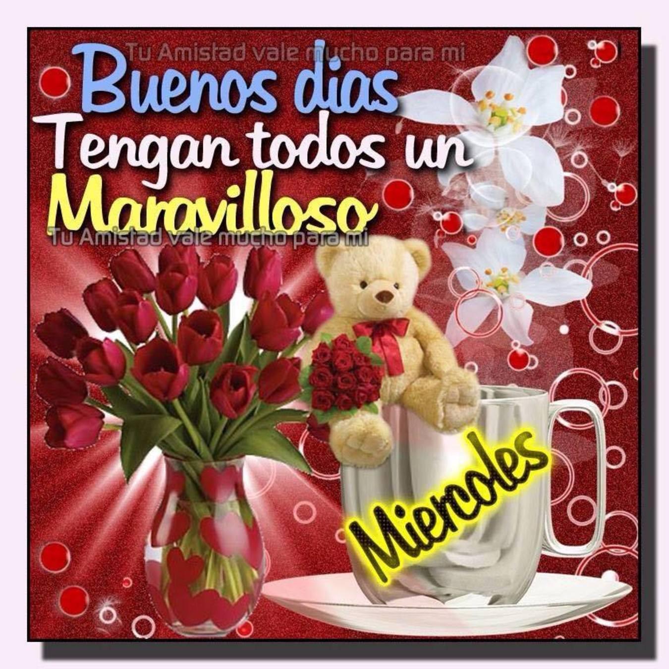 Feliz Miércoles con rosas 54