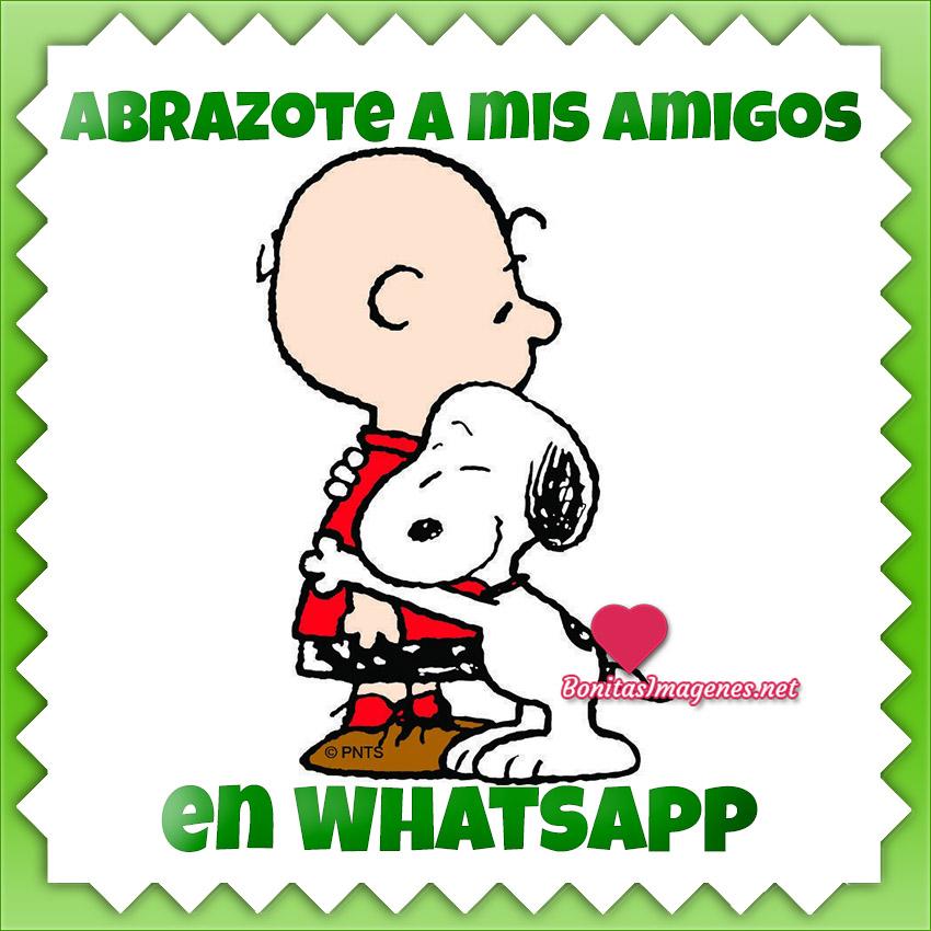 Imágenes de Abrazos para tus amigos en WhatsApp