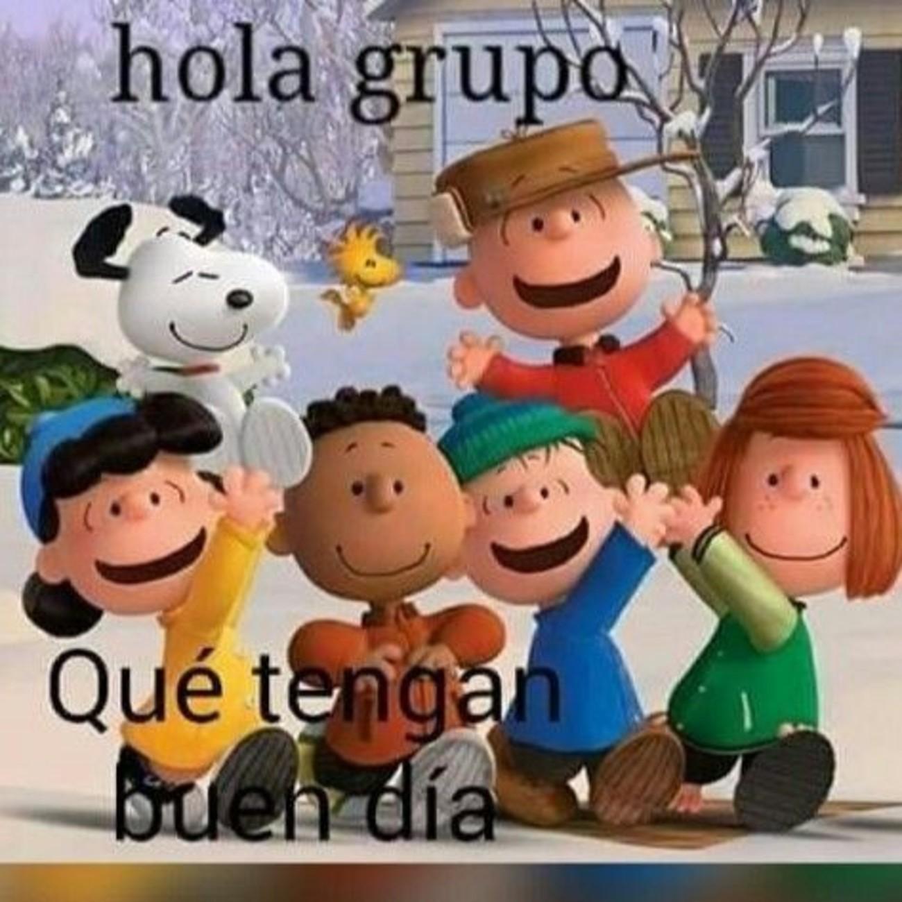Buenos Dias grupo con Snoopy 727